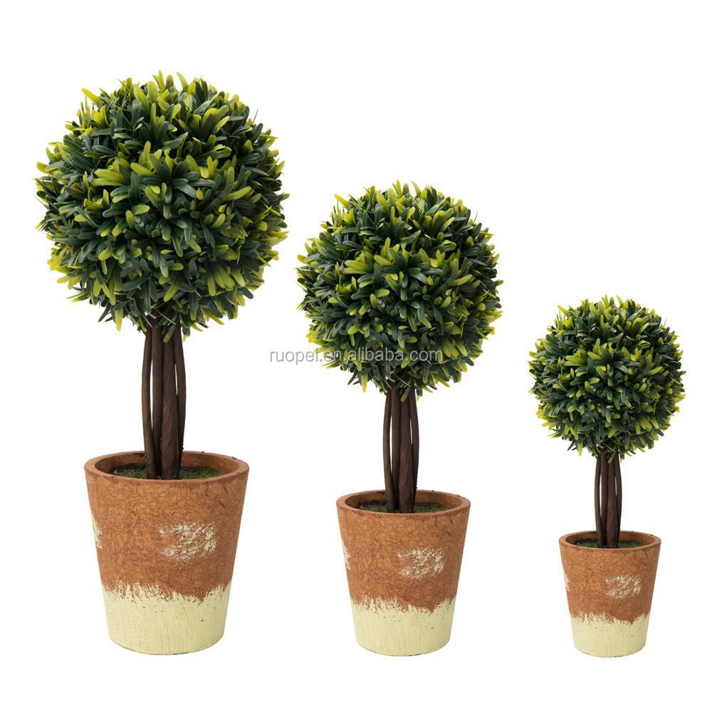 Home Decorative Topiaty Bonsai Artificial Small Potted Plants