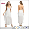White New Fashion Women Ladies Sexy Strap V-Neck Lace Floral High Elastic Waist Backless Chiffon Maxi Party Women Sexy Dress