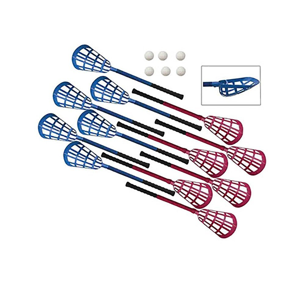 Champion Sports Ultra Grip Lacrosse Set (Blue/Red)