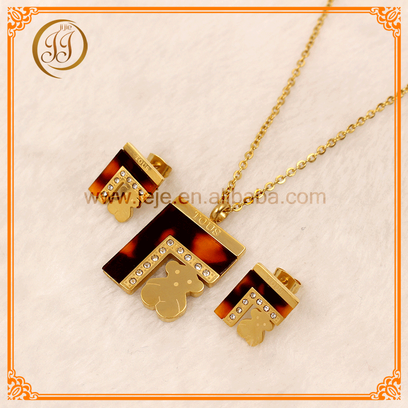 Best Quality Gold Plated Jewelry Set Shell Womens Necklace Sets For Daily Accessories