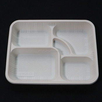 Disposable Plates 5 Compartment Party Food Section Tray Thali Curry & Disposable Plates 5 Compartment Party Food Section Tray Thali Curry ...