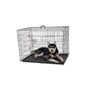 Black Metal Kennel Mesh Pet Dog Cage For Sale Cheap With Plate