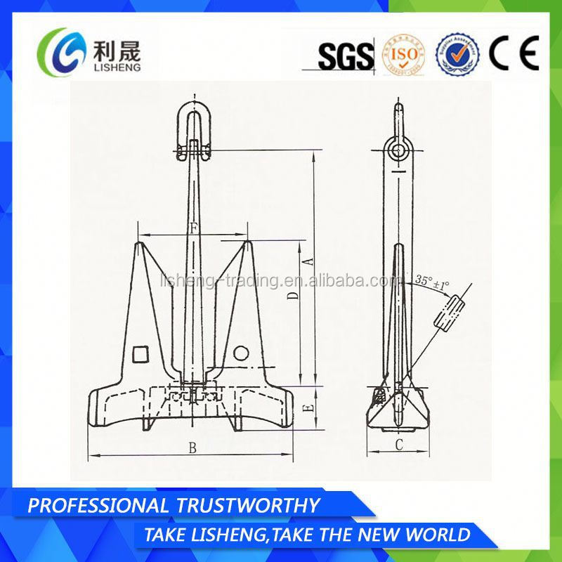 Factory Manufacturer Marine/Ship/Boat Hhp Ac 14 Anchor