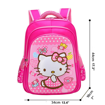 Hello Kitty Series Cartoon Elementary School Book Bags Cute Kids Backpack  for Little Girls 55ad257ee20a7