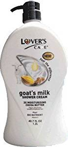 Lover's Care Goat's Milk Shower Cream 3x Moisturising plus Bio Nutrient (Almond Oil and Cocoa Butter) by Lover's Care