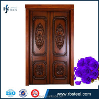 Solid oak Double Swing Main Entrance double wood door