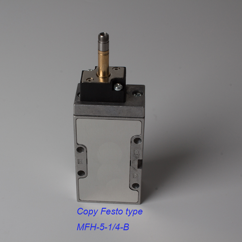Made in China 1/4 inch FESTO solenoid valve MFH-5-1/4-B