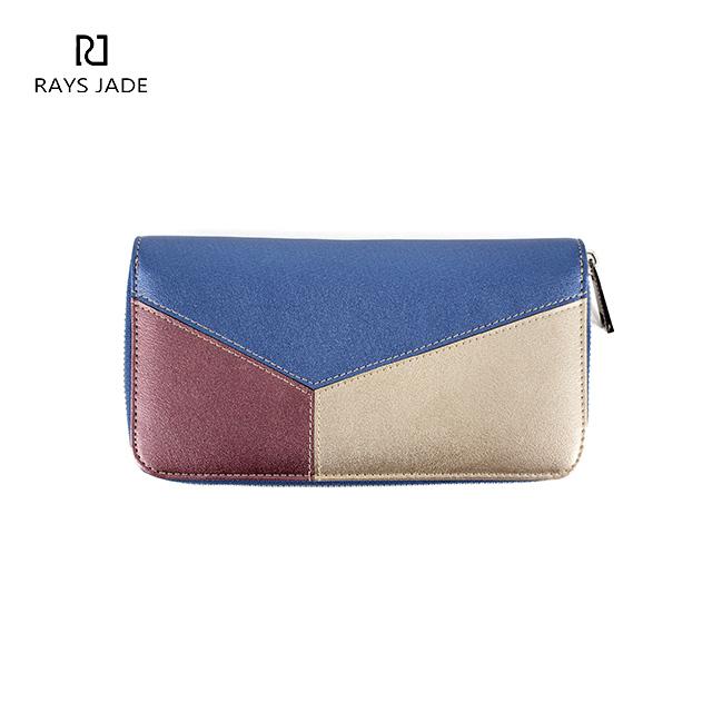 344913d82275 Guangzhou custom design leather zip around lady wallet
