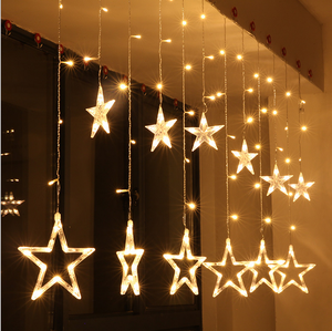 outdoor indoor decoration water proof hanging LED star curtain light