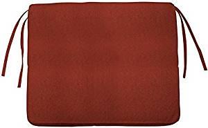"Box edge Rectangular Outdoor Chair Cushion, 3""Hx21""Wx23""D, HENNA SUNBRELLA"