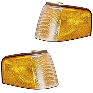1988-1994 Ford Tempo & Mercury Topaz Corner Park Lamp Turn Signal Marker Light Set Pair Right Passenger AND Left Driver Side (1988 88 1989 89 1990 90 1991 91 1992 92 1993 93 1994 94)