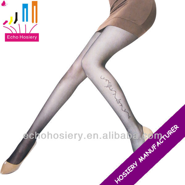 lycra spandex tights for women with embroidery or printing