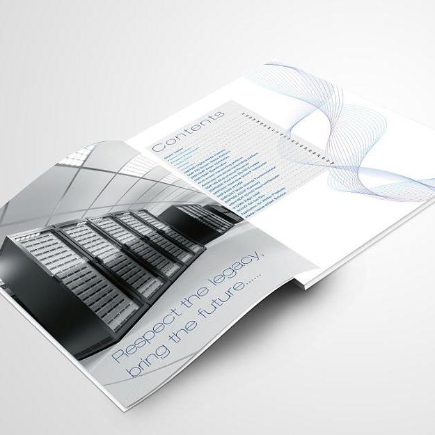 Custom service brochure booklet flyer catalogue cheap book printing