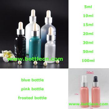 50ml empty travel size spray bottle, 50cc refillable makeup setting spray, blue mist spray pump plastic bottle container
