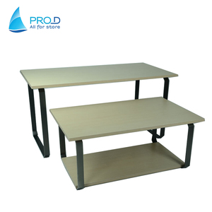 Ruilang Company Pro D Storage Metal Display Rack Table With Wood
