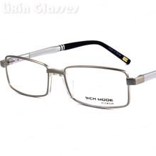 Новый простой мужской дизайн оправа очки Брендовые металлические оправа алюминиевые очки Оптические очки с противоскользящим типом U носо...(Китай)