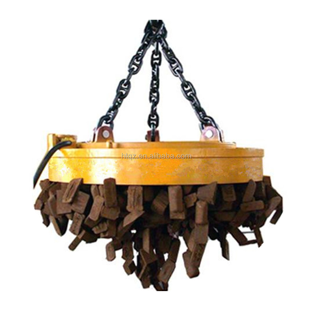 Scrap handling magnet with chains, scrap magnetic lift, electric scrap lifting magnet