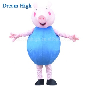 Funtoys Adult Pink pig and bule pig mascot costume for sale