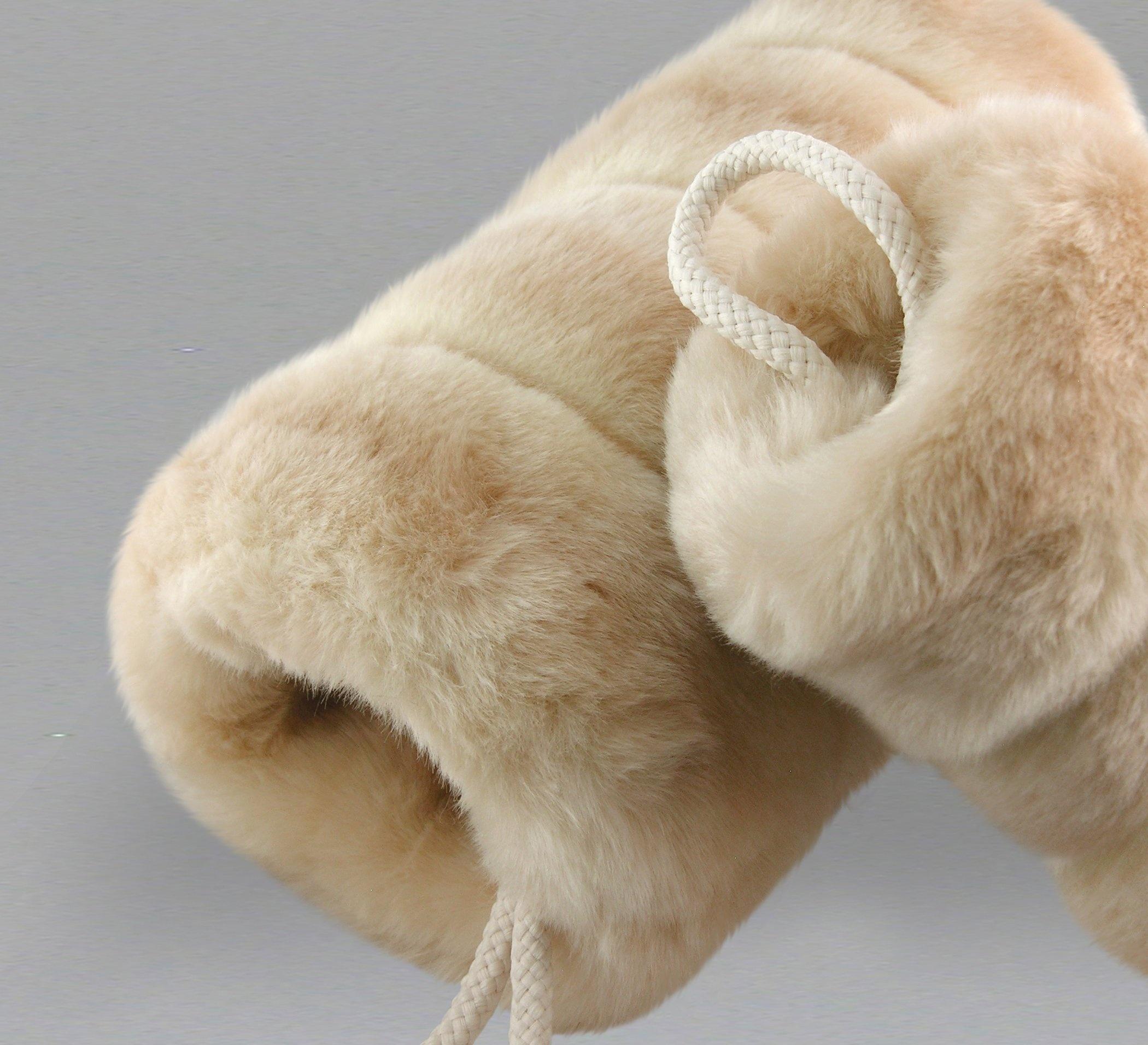 Stripped Faux Fur Hand Warmer Muff Wedding Muff