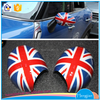 2016 Wholesale car mirror cover good quanlity car side mirror flag cover for mini cooper decoration