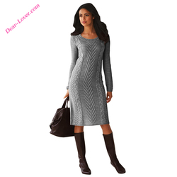 Custom 2017 Women's Winter Tight Knitted Sweater Dress