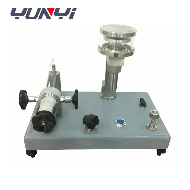 pressure gauge calibration vacuum dead weight tester