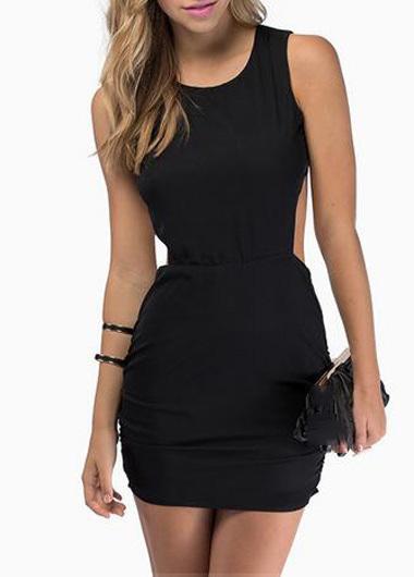 korte zwarte strakke jurkjes