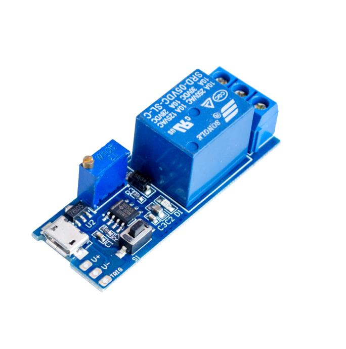 5pcs/lot Precise 5V -30V Micro USB Power Relay Timer Control Module Trigger Delay Switch