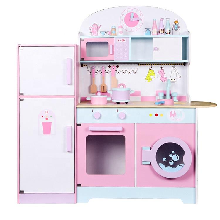 Baby Pink Cooking Furniture Modern Wooden Refrigerator Kitchen Toy Set For Kids Buy Kitchen Toy Sets Kitchen Set For Kids Toy Kitchen Play Toy Product On Alibaba Com