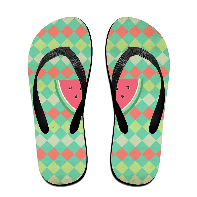 ec1dc2d5a10 Get Quotations · Unisex Summer Watermelon Beach Slippers Home Flip-Flop  Flat Thong Sandal Shoes
