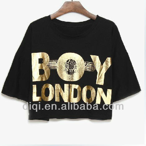 25a6fa958 Wholesale Cropped Golden Printing T Shirt Fashion In London 2013 ...