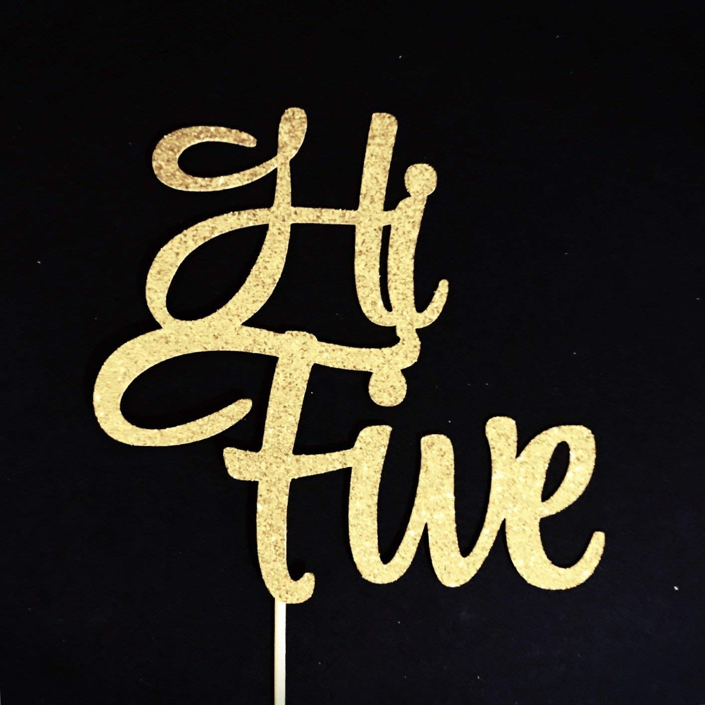 Five Cake Topper Hi Fifth Birthday 5