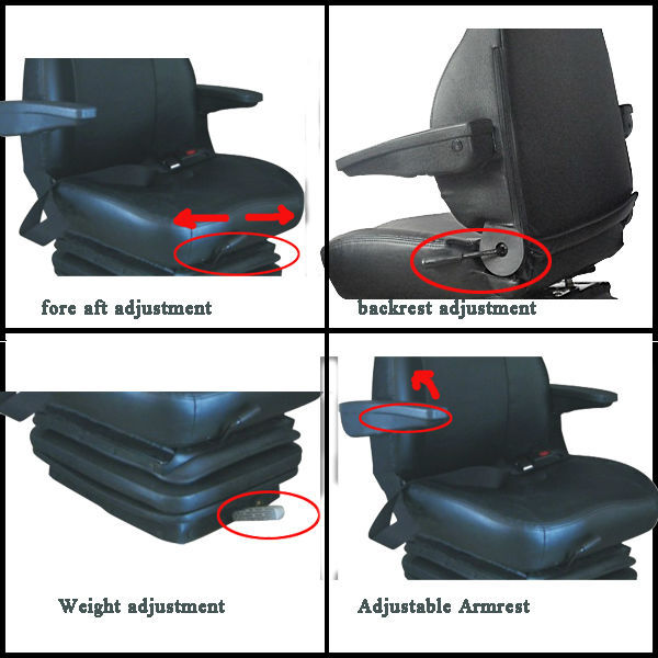 Mechanical Suspension Boat Seat With Optinal Headrest Seat Belt ...