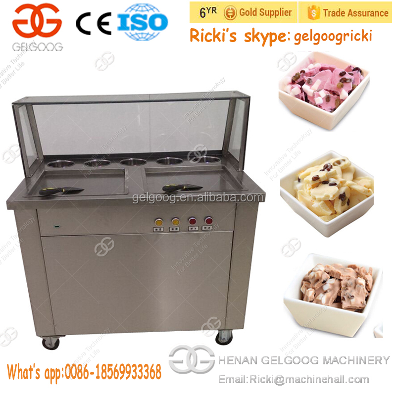 Low Price Rolled Pan Fried Ice Cream Making Machine Rolling Ice Maker