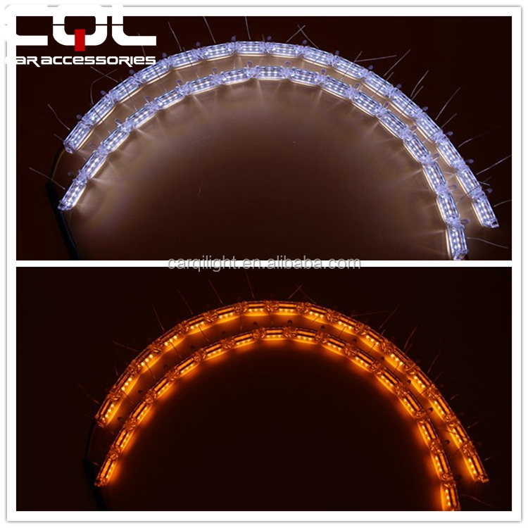 Super bright crystal led lighting/Tears eye Crystal LED DRL/Universal cars install Led strips