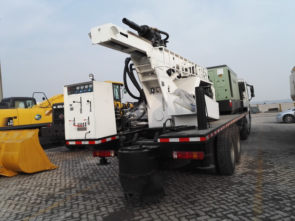 hot sale truck-mounted borehole water well drilling machine SLY550 for sale