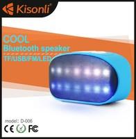 Portable Stereo Surround Sound Box Speaker Bluetooth Multi Color Flash LED Light Wireless led light bluetooth speaker