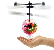 New Arrived Light Aircraft Helicopter Infrared Induction Flying Ball Toy Crystal Children Flying RC Ball LED Flashing