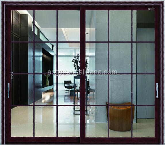 Casa de dise o moderno puerta corredera de cristal de alta for Puertas correderas diseno moderno