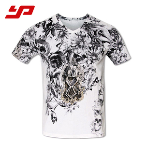 Breathable custom printed t shirts sports clothing men's shirts