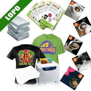 Dark color t shirt sublimation transfer paper for laser for Laser printing machine for t shirts