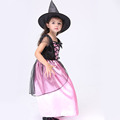 New 2016 New Baby Girl Witch Clothing Set Cute Consume Sits Halloween Costumes Cosplay Kids Makeup