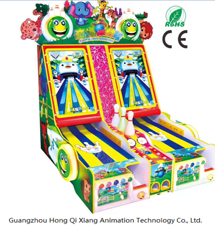 Hong Qi Xiang hot sale coin video game machine Adventure Bowling game for Amusement park