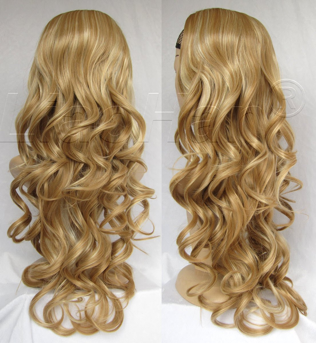 Buy Liaohan Fashion Highlights Brown Blonde Wig Fall 24 Long Curly