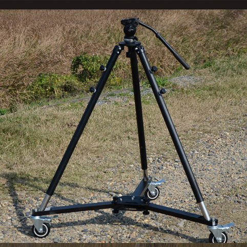 Professional Trackless Moving Car 3 Wheels Dolly Ball head Tripod For Camera Jibs Camera Track Rail
