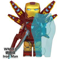 Hot Super heroes marvel aveng endgame mini action figure ironman DIY building block toys for kids WM6063(on sale)