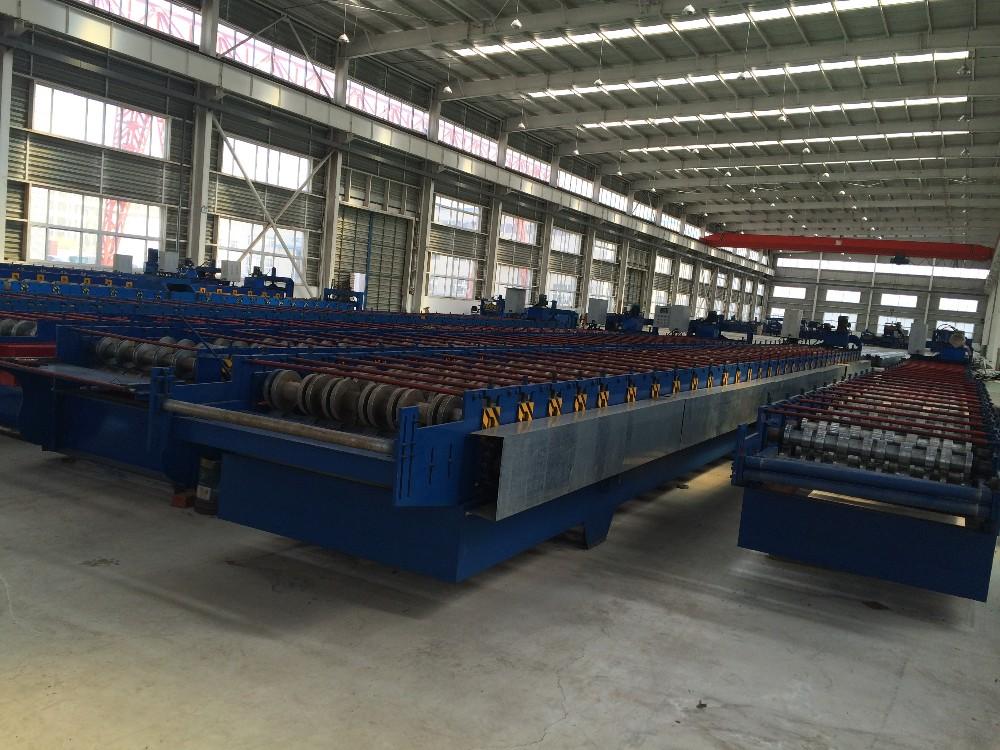 YUFA 2020 corrugated roof sheet making galvanized steel shutter door roll forming machine