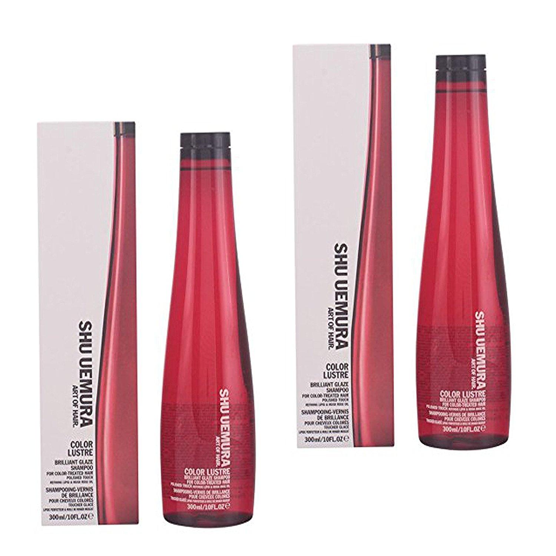 Bundle - 2 Items : Shu Uemura Color Lustre Shampoo 10.1 oz (2 Pack)
