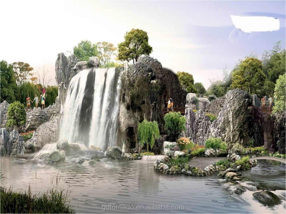 Fuentes de cascada para jardin aalibaba china fuentes de - Cascada de jardin ...