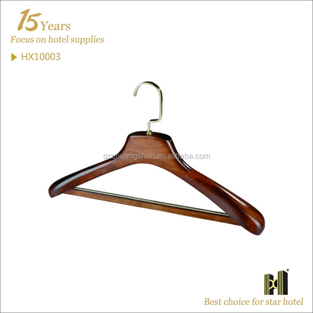 Wooden Material Deluxe Suit or Garment wholesale hanger